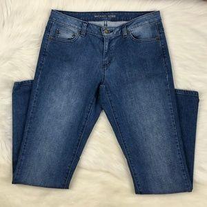 Michael Kors Mid Rise Boyfriend Medium Denim Jeans